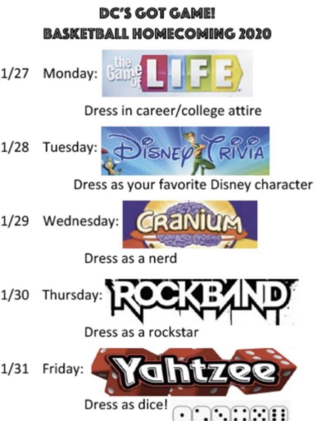 Basketball Homecoming Week!